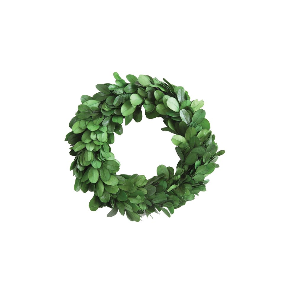 "6"" Round Preserved Boxwood Wreath - Simply Susan's"