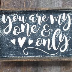 6x9 You Are My One & Only Handmade Framed Black Sign - Simply Susan's