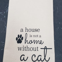 Without a Cat Tea Towel - Simply Susan's