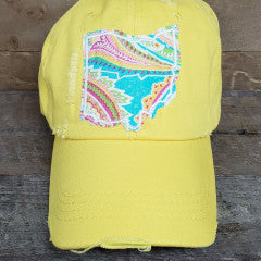 OHIO HAT BASEBALL YELLOW KATARINA - Simply Susan's