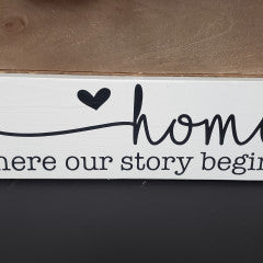 4x12 Home Where Our  Handmade Framed Sign - Simply Susan's