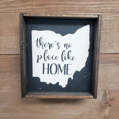 6X6 There's No Place Like Ohio Framed Sign - Simply Susan's