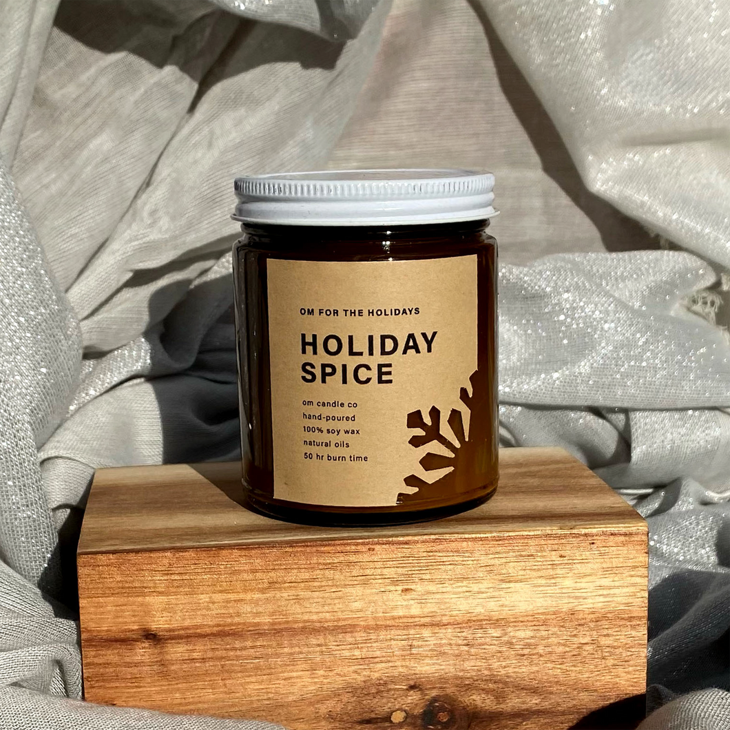 Om for the Holidays Candle - Holiday Spice 9oz