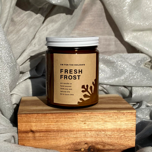 Om for the Holidays Candle - Fresh Frost 9oz
