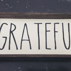 4x8 Grateful Handmade Framed Sign - Simply Susan's