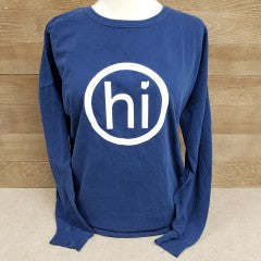 O hi O Long Sleeve T Navy - Simply Susan's
