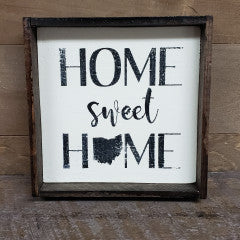 6X6 Home Sweet Home Framed - Simply Susan's