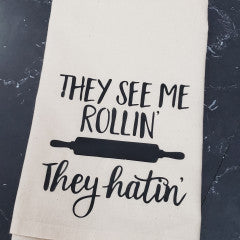 They See Me Rollin' Tea Towel - Simply Susan's