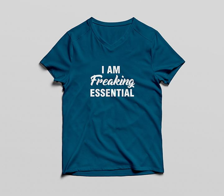 I Am Freaking Essential V Neck T-Shirt - Simply Susan's