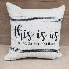 18x18 Vintage Striped Pillow This Is Us - Simply Susan's