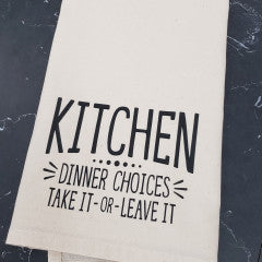 Kitchen Dinner Choices Tea Towel - Simply Susan's