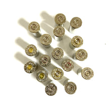 Load image into Gallery viewer, 357 Winchester Mag Empty Nickel Shell Casings Used Spent Ammo Cartridges Silver Bullet Jewelry Qty 5 Pcs - Free Shipping