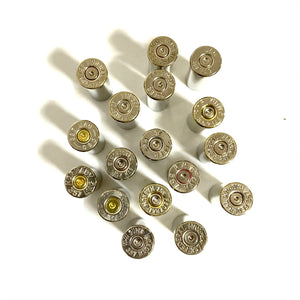 357 Winchester Mag Empty Nickel Shell Casings Used Spent Ammo Cartridges Silver Bullet Jewelry Qty 5 Pcs - Free Shipping