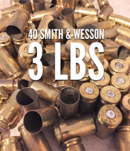 Load image into Gallery viewer, 40 Smith & Wesson Brass Shells Used Spent Casings Empty 40 Caliber Pistol Handgun Spent Casings Uncleaned Unprocessed
