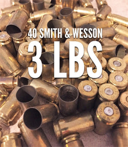 40 Smith & Wesson Brass Shells Used Spent Casings Empty 40 Caliber Pistol Handgun Spent Casings Uncleaned Unprocessed