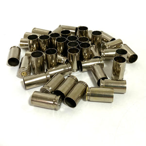 9MM Nickel Brass Shells Used Bullet Casings 9X19 Luger Fired Spent Pistol Ammo Cleaned Polished 5 Pieces | FREE SHIPPING