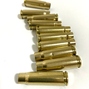 AK-47 Brass Shells Drilled 7.63x39 Empty Used Spent Casings Side View