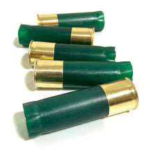 Load image into Gallery viewer, Blank GREEN Empty Shotgun Shells 12 Gauge No Markings On Hulls Spent Shotshells Fired Used Ammo Casings