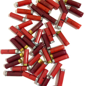 Empty Red Shotgun Shells Used Fired