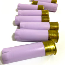 Load image into Gallery viewer, Lavender Pastel Purple Empty Shotgun Shells 12 Gauge 12GA Hulls Hand Painted DIY Boutonnieres