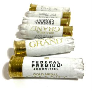 Empty Shotgun Shells Once Fired Federal Premium Gold Medal Grand