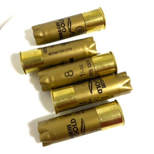 Gold Bornaghi Shotgun Shells Empty Hulls Used Fired Spent 12GA Casings