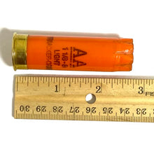 Load image into Gallery viewer, Orange 12 Gauge Shotgun Shells Empty 12GA Hulls Size Dimensions
