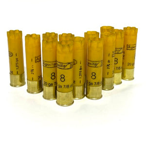 Fired 20 Gauge Aguila Yellow Hulls