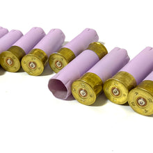 Load image into Gallery viewer, Lavender Pastel Purple Empty Shotgun Shells 12 Gauge 12GA Hulls Hand Painted DIY Boutonnieres Qty 8 | FREE SHIPPING