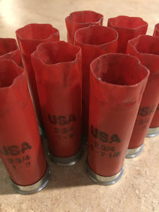 Red Shotgun Shells USA Winchester 12 Gauge Hulls Shotshells Fired 12ga Used Spent Ammo Shot Gun Casings 10 Pcs - Free Shipping