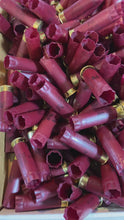 Load and play video in Gallery viewer, Dark Red Federal Used Empty 12 Gauge Shotgun Shells Shotshells Spent Hulls Fired 12GA Casings Huge Lot 450 Pcs - FREE SHIPPING