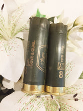Load image into Gallery viewer, Shot gun shell dark army green boutonnieres
