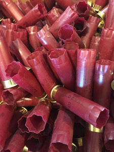 Burgundy Red Federal Used Empty 12 Gauge Shotgun Shells Spent Hulls