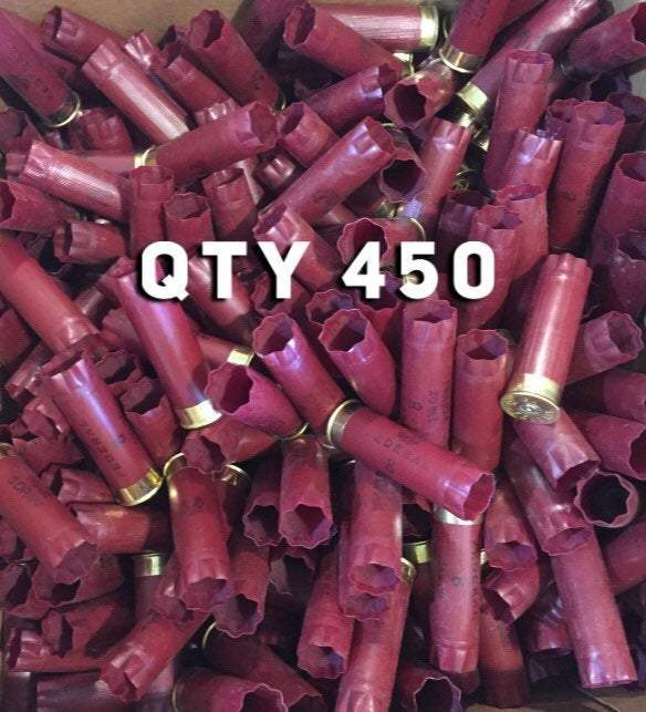 Dark Red Federal Used Empty 12 Gauge Shotgun Shells Shotshells Spent Hulls Fired 12GA Casings Huge Lot 460 Pcs