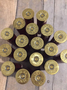 Dark Red Federal Used Empty 12 Gauge Shotgun Shells Shotshells Spent Hulls Fired 12GA Gold Headstamps