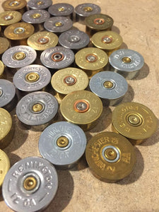 Gold Head Stamps Shotgun Shell 12 Gauge Silver End Caps Brass Bottoms DIY Bullet Necklace Earring Jewelry Steampunk Crafts 42 Pcs | FREE SHIPPING