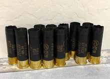 Load image into Gallery viewer, Black Shotgun Shells 12 Gauge Empty Spent Hulls Used Fired Casings