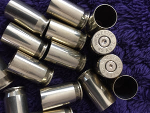 Empty Brass Bullet Casings Spent Ammo Once Fired Shells Cleaned & Polished 45 ACP Winchester Reloading 15 Pcs