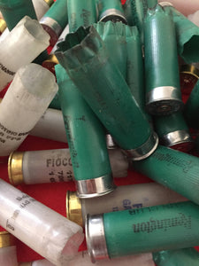 Green and White Hulls Empty Shotgun Shells 12 Gauge Casings Ammo Fired Cartridge Shells DIY Crafts - Qty 240 Pcs