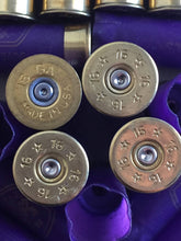 Load image into Gallery viewer, Purple Shotgun Shells 16 Gauge Empty Hulls Spent Shotshells Once Fired Shot Gun Ammo Casings 8 Pcs - FREE SHIPPING
