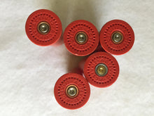 Load image into Gallery viewer, UNIQUE Empty Red Shotgun Shells 12 Gauge Once Fired Used 12GA Shot Gun Hulls Spent Casings DIY Ammo Crafts 5 pcs
