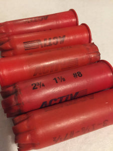 UNIQUE Empty Red Shotgun Shells 12 Gauge Once Fired Used 12GA Shot Gun Hulls Spent Casings DIY Ammo Crafts 5 pcs
