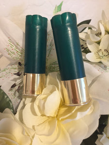 8 Blank GREEN Empty Shotgun Shells 12 Gauge No Markings On Hulls Spent Shotshells Fired Used Ammo Casings DIY Boutonnieres Crafts- FREE SHIPPING