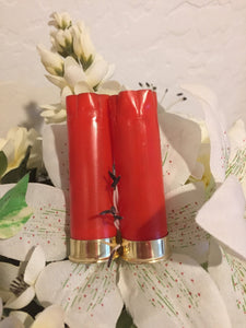 8 Blank RED Empty Shotgun Shells 12 Gauge No Markings On Hulls Spent Shotshells Casings DIY Boutonniere Vintage Wedding Crafts for Him