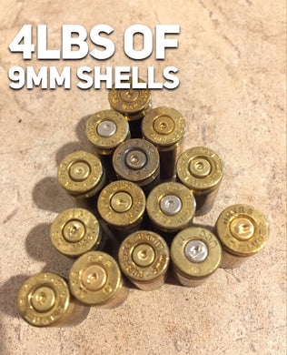 Empty Brass Shells 9MM Used Bullet Casings Fired 9X19 Spent Pistol Ammo Uncleaned DIY Jewelry Crafts 4lbs