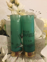 Load image into Gallery viewer, DIY Shotgun Shell Boutonnieres Gold Green