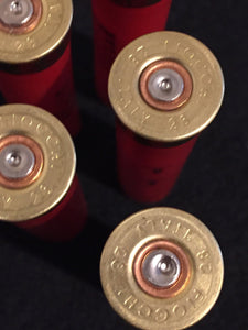 Fiocchi Red Shotgun Shells 28 Gauge Empty Hulls Shotshells 28GA Spent Casings Ammo Crafts Bullet Jewelry 100 Pcs - FREE SHIPPING