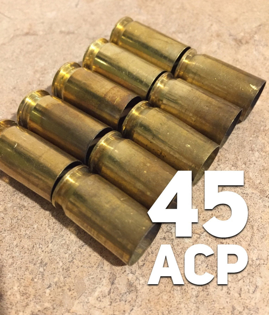 45 ACP Empty Brass Shells