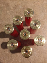 Load image into Gallery viewer, 8 Blank RED Empty Shotgun Shells 12 Gauge No Markings On Hulls Spent Shotshells Casings DIY Boutonniere Vintage Wedding Crafts for Him
