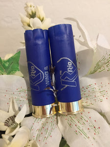 Blue Shotgun Shells 12 Gauge Empty Hulls Rio Hand Polished Shot Gun Shotshells Used 12ga Spent Ammo Casings Crafts 36 Pcs - FREE SHIPPING